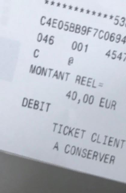 Euro receipt