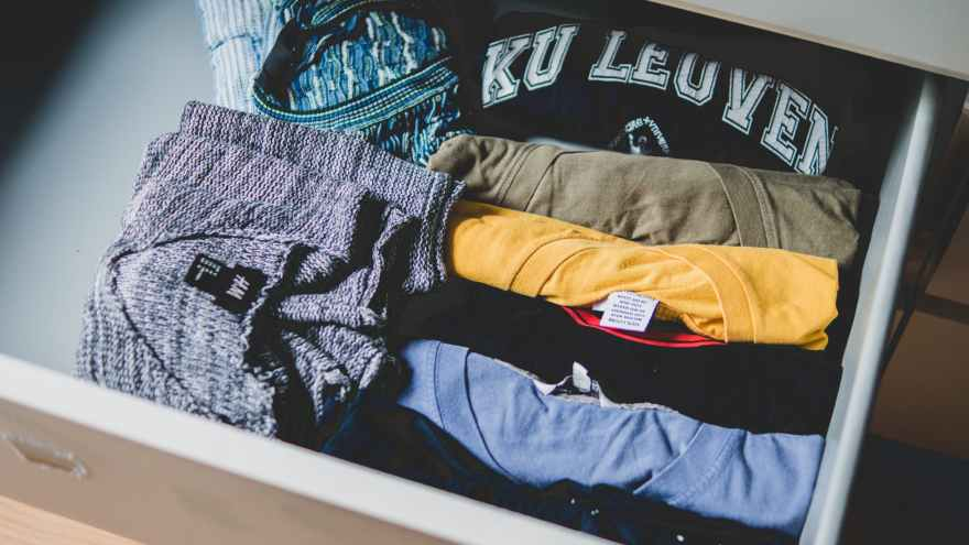 Rolled t-shirts